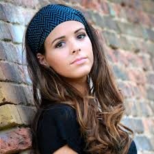 thick headbands and gray patterned thick headband