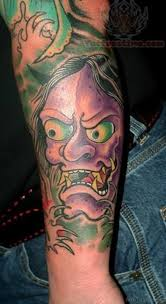 hannya mask samurai tattoo 70 adorable mask tattoos on arm