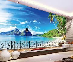 luxury european modern beach terrace scenery tv background wall see larger image