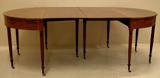Antiques Dining Tables American Sheraton Antique Dining Table D End C1820