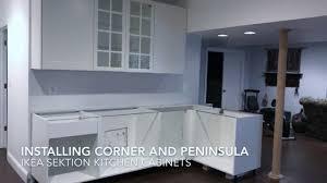 ikea kitchen corner cabinet installing ikea sektion cabinets corner peninsula