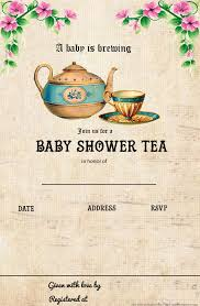 free printable tea party baby shower invitation template baby
