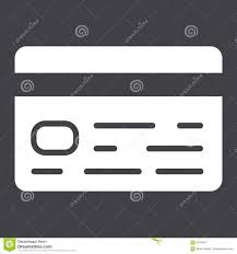 Credit Card Signs For Businesses Credit Card Glyph Icon Business And Finance Stock Vector Image