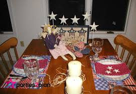 tablescape patriotic table decorations for election day