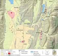 Map Of Idaho And Utah by Unusually High Nitrate Concentrations In Southern Sanpete County U0027s