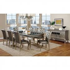 silver dining room amina contemporary silver dining set shop for affordable home