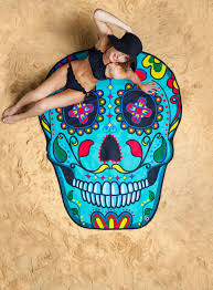sugar skull towel blanket big mouth toys unique gifts