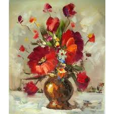Pictures Of Vases With Flowers Dark Gold Vase With Flowers