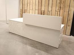 Plywood Reception Desk Generatively Designed Reception Desk At Autodesk Mars Office In