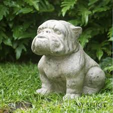 volcanic ash keeper bulldog garden decor my spirit garden
