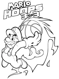 mario coloring pages the sun flower pages