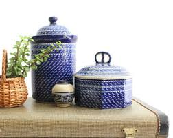 ceramic kitchen canisters sets kitchen canister set etsy
