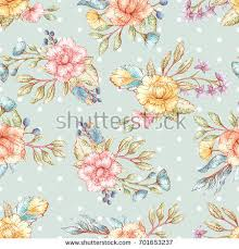 shabby chic wrapping paper seamless vector floral pattern shabby chic stock vector 701653228