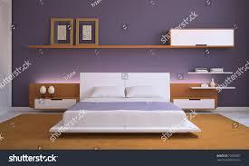 modern bedroom interior 3d render stock illustration 72850087