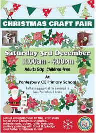 christmas craft fair pontesbury library