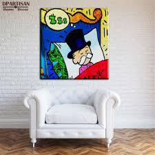 Graffiti Art Home Decor Aliexpress Com Buy Dpartisan Alec Monopoly Sleeping Idea Huge