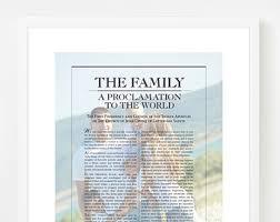 family proclamation family proclamation etsy