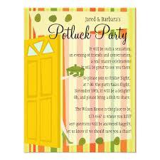 potluck invitation wording