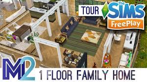 Home Design Games Like Sims Sims Freeplay 1 Floor Family Home Original Design Youtube