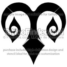 tribal black aries design