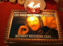 Meme Birthday Cake - epic lotr meme birthday cake
