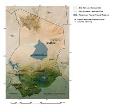 The Sahel Map The Republic Of Chad West Africa