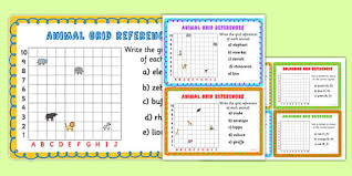 animal grid references worksheet coordinates worksheet
