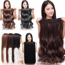 Babydoll Hair Extensions by Women Clip In Hair Extensions Long Straight Curly With 5 Clips At
