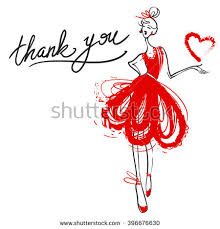fashion sketch of a red dress stock images royalty free images