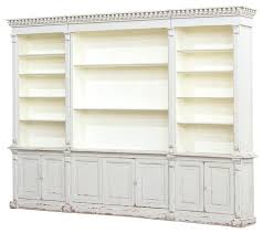 white distressed bookcase plnr wood contemporary vintage mission