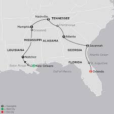 Southern United States Map by Southern United States Vacations U0026 Tours Cosmos