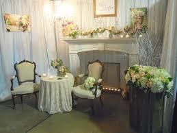 wedding expo backdrop peony bridal bouquet classic creations