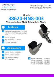 amazon com honda atv rincon transmission shift solenoid black