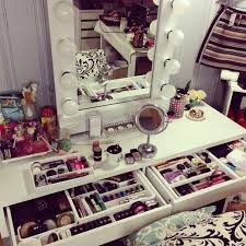 Bedroom Makeup Vanity With Lights Bedroom Awesome Home Furniture Design For Of White Storage
