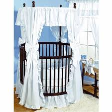 round baby cribs amazoncom with baby doll bedding carnation eyelet round crib bedding set white from amazoncom