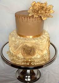 golden wedding cakes golden wedding anniversary cake anniversary 2543537 weddbook