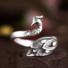 vintage design rings images Vintage design 925 sterling silver peacock rings for women party jpg