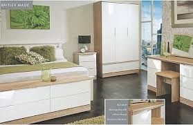 Bedroom Furniture White Gloss Modest Bedroom Furniture White And Oak Eizw Info