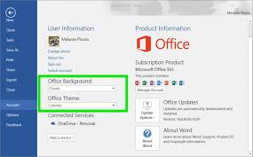 how to change your office 2016 theme