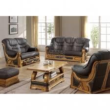 canape cuir rustique salon cuvette canapé rustique stylisé tiroirs cuir vachette barbade