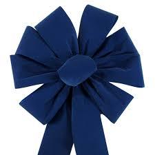 royal blue ribbon bows large royal blue velvet bow