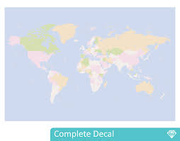 world atlas pastel colours your decal shop nz designer wall world atlas pastel colours