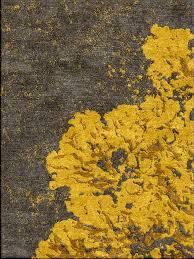 Modern Yellow Rug Lichen Shivhon Original Handmade Rugs