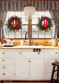 Christmas Kitchen Curtains by A Few Of My Favorite Things Archives
