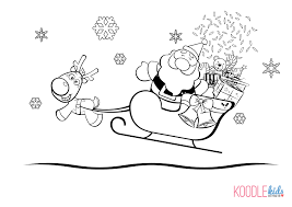 santa sleigh coloring pages getcoloringpages com