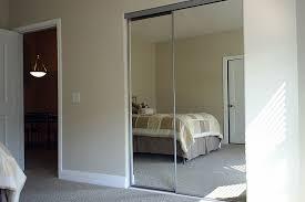 Mirror Closet Door Sliding Mirror Closet Doors With White Door Design