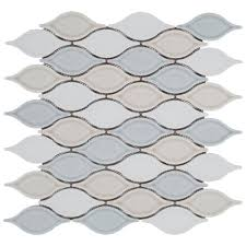 flooring and decor blue blend tear drop porcelain mosaic 12 1 2in x 12 1 2in