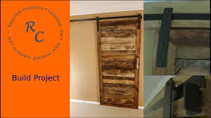 How To Make Sliding Barn Door by Up Cycled Pallet Wood Sliding Barn Door Youtube
