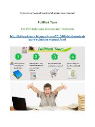 e commerce test bank and solutions manual e commerce portable