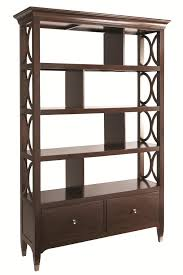 bassett cosmopolitan transitional bookcase room divider with built